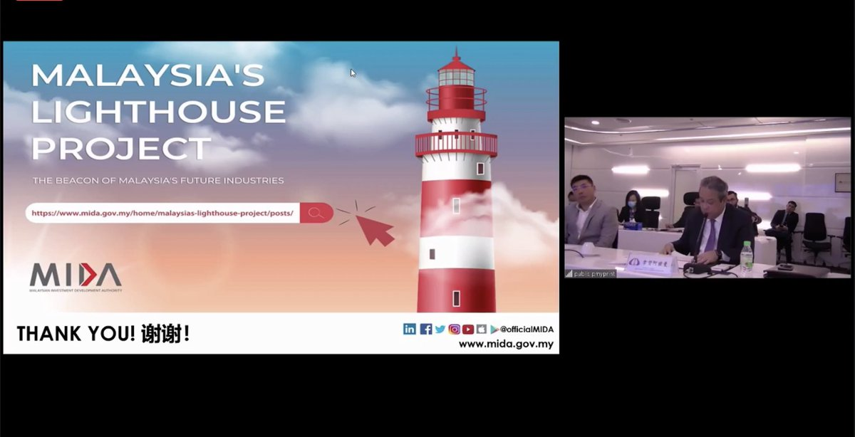 CEO of @OfficialMIDA shared the exciting opportunities on Malaysia #Lighthouse Programme during the Webinar held at @Huawei Malaysia yesterday. This initiative focusses on developing #manufacturing beacons to spearhead Malaysia's industries forward and become #futureready. https://t.co/8m1ump7Zly