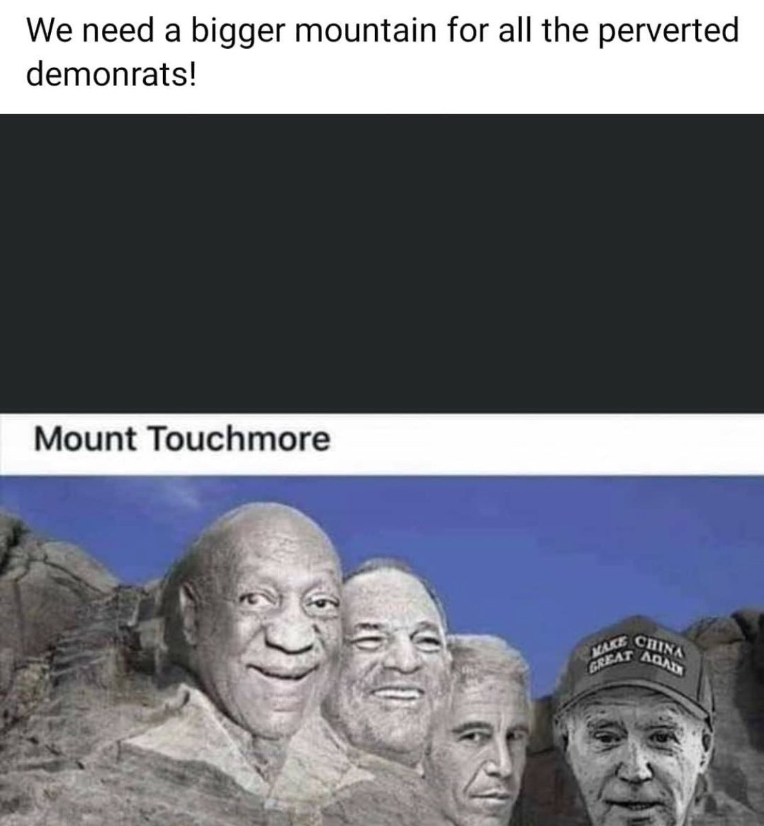 #WakeUpAmerica .. We're going to need a bigger #mountains Sadly the #DemocratsAreDestroyingAmerica we might as well rename #MountRushmore .. #MountTouchMore after all these perverted #Democrats #LiberalismIsTheRealPandemic pic.twitter.com/kdnvyV5MhY