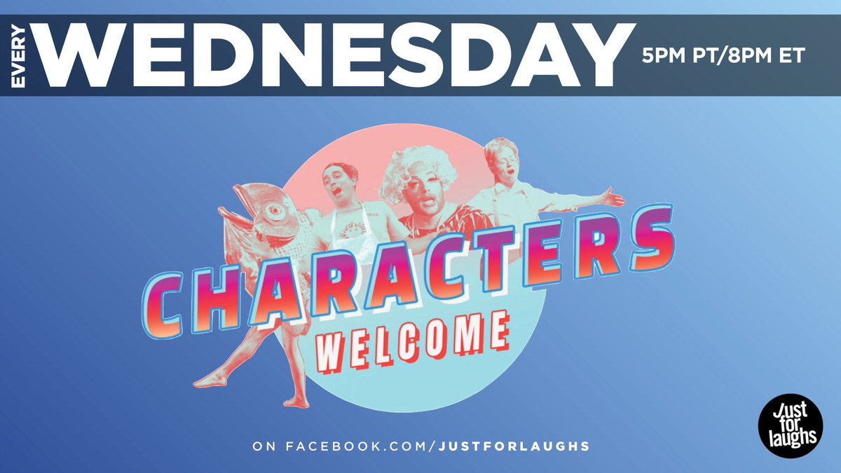 Characters Welcome returns tomorrow at 8pm. And yes: I'll be doing THAT impression.