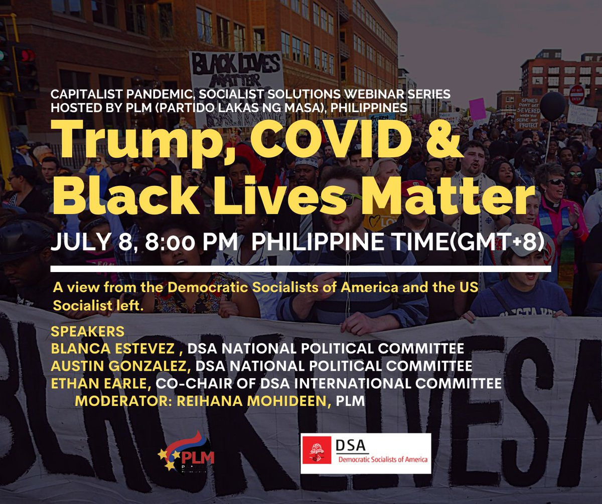 This is happening tonight - PM for invites or you can also tune in on FB live.  #BlackLivesMatter #COVID19 #Trump https://t.co/HHQjIwpvaH