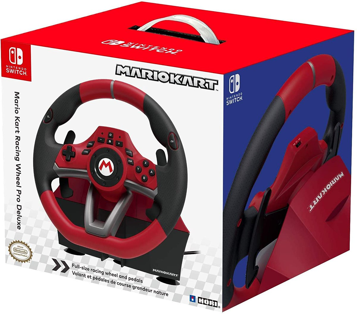 Nintendo Switch Mario Kart Racing Wheel Pro Deluxe is $82.94 on Amazon amzn.to/3gBU1gH