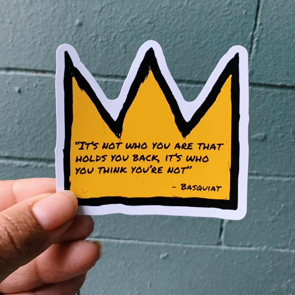 Excited to share this item from my #etsy shop: Basquiat Quote Sticker https://etsy.me/2ZLSQnXpic.twitter.com/THSNuufSFn