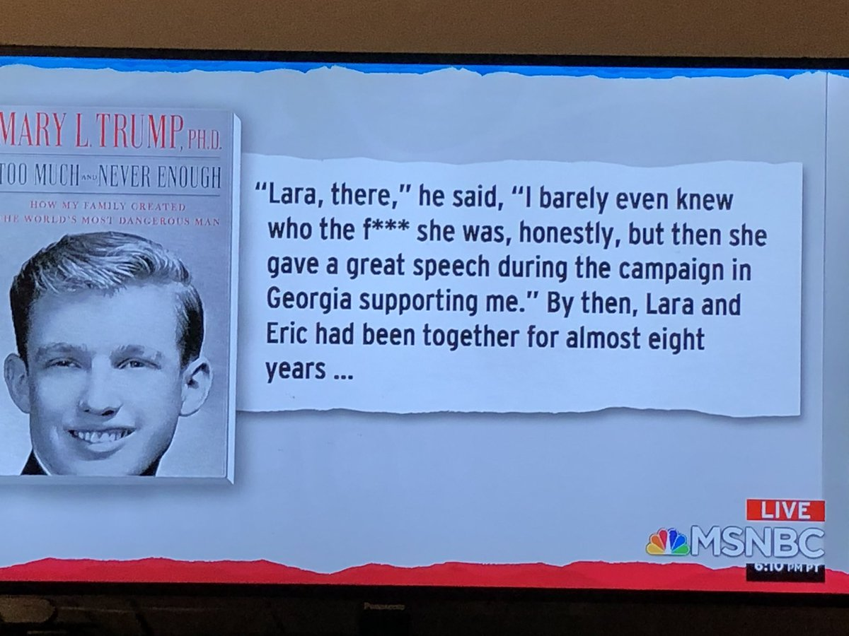 Here's a good zinger for @LaraLeaTrump, who has been stumping for her criminal father—in-law, who barely knows her #TrumpCrimeFamily