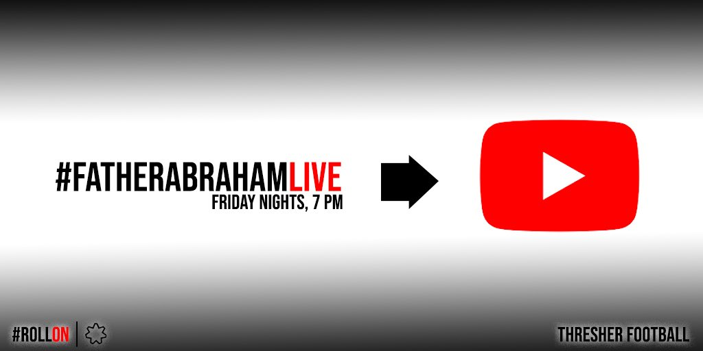 #FatherAbrahamLIVE is moving to YouTube this Friday night! Check your emails for a link to the video at 7:00!  #TheBrotherhoodpic.twitter.com/RsPXz0htIR