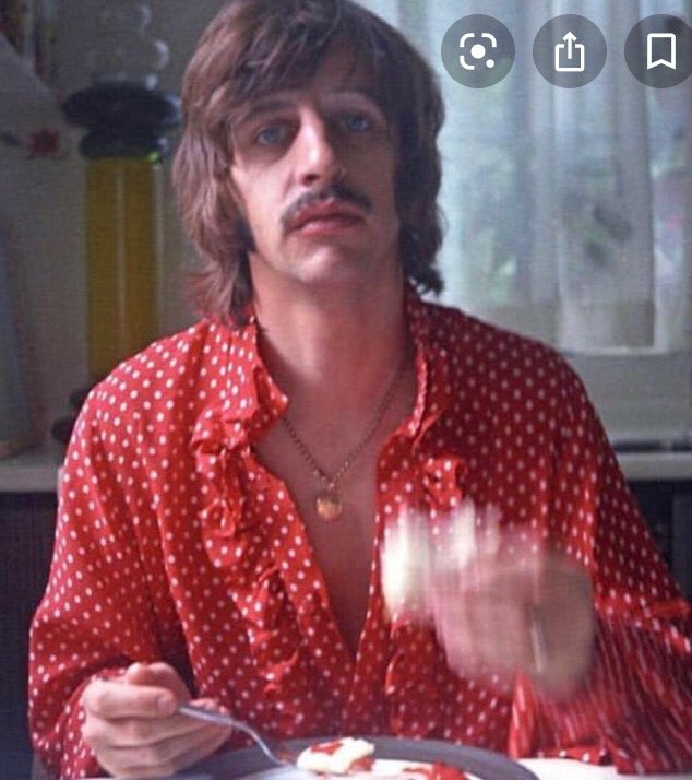 Happy Birthday to Ringo. Thought I'd celebrate by posting my favorite pic of him... eating breakfast in 1969.