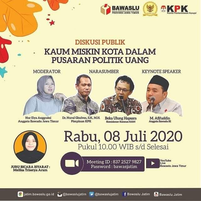 Sila yang tertarik dengan upaya memperbaiki kualitas demokrasi Indonesia, gabung dalam diskusi pagi ini.. https://t.co/ZlFZY24LZk