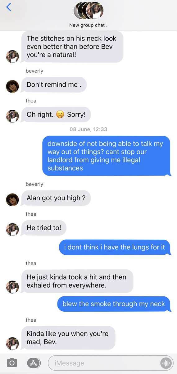 189. A day and a half later, in a very different group chat.    Mentions of weed and self medication.  Richie's <br>http://pic.twitter.com/Xo8wT7M6He