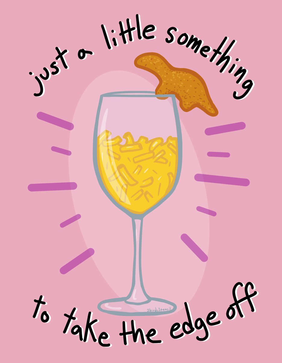 I saw the meme version of this earlier and just really needed to draw it myself... • • • • • #art #artist #illustration #illustrator #womenofillustration #procreate #macncheese #chickennugget #chickennuggies #nuggies #dinonuggies #wine #wineglasspic.twitter.com/WOP1zf9ETN