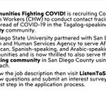 Image for the Tweet beginning: Communities Fighting COVID! is hiring