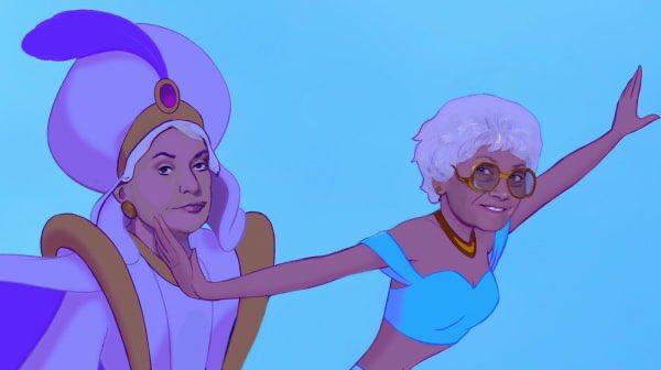 Aladdin is somehow actually Jasmine's daughter. They move to Florida together. #BadDisneyMovieEndings