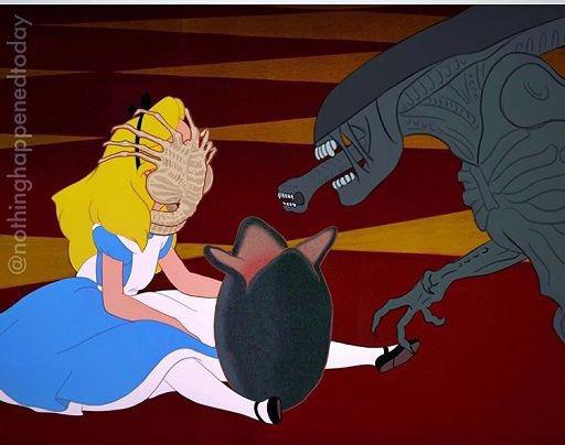 Alice gets curious again #BadDisneyMovieEndings