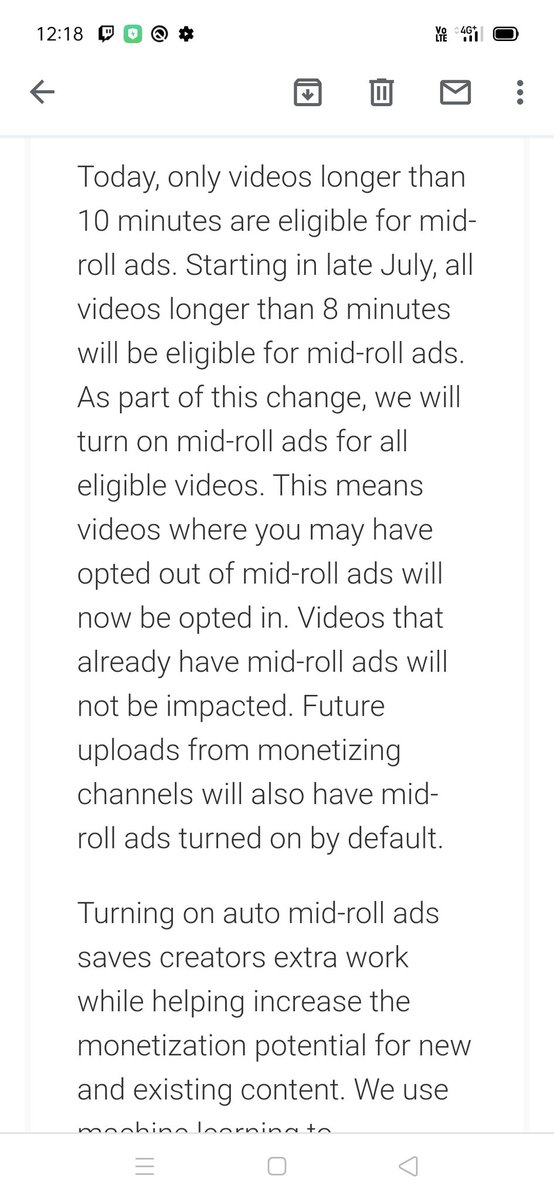 YouTube increasing adverts even more soon, and creators don't control it.