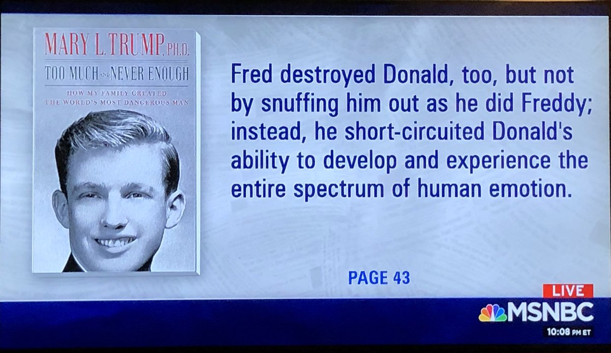 Daddy dearest: Mary Trump says Fred Sr destroyed @realDonaldTrump as a person