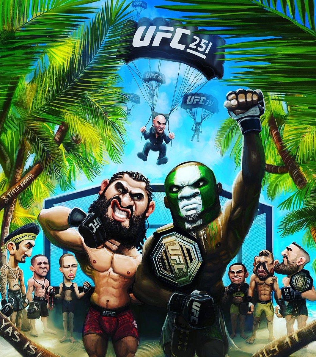¡Todo está listo en Fight Island! ¡Nos espera un sábado espectacular en el octágono! ¿Quiénes creen que salgan de la jaula con los cinturones de campeones? #DiarioMMA #UFC251 #fightisland🏝 #ufc #MMA #ProhibidoParpadear https://t.co/8fpryHBAul