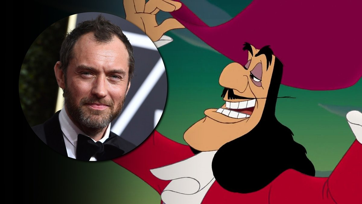 Jude Law to play Captain Hook in Disney's live-action remake of 'Peter Pan'.  (via @Variety) https://t.co/IHYPLJPSFb