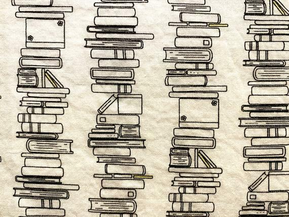 In the minouette shop: Fat Quarter Book Stacks Black and White 100% Cotton Fabric | DIY Face Mask | 1/4 Yard  | Add Elastic by inspirationalgoodies at https://ift.tt/2AI7BzMpic.twitter.com/H7WRUTe95k