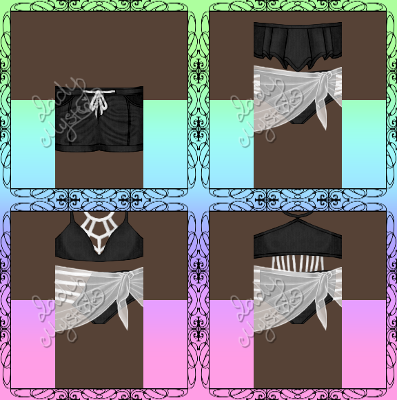 Roblox Black Swim Trunks