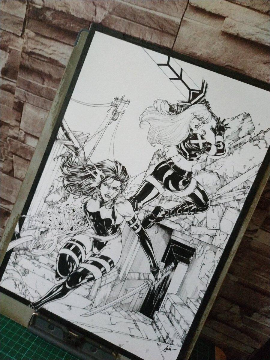 Okay finished  #psylocke #magik #marvelcomics #xmen #mutant https://t.co/CVgTarTXR1