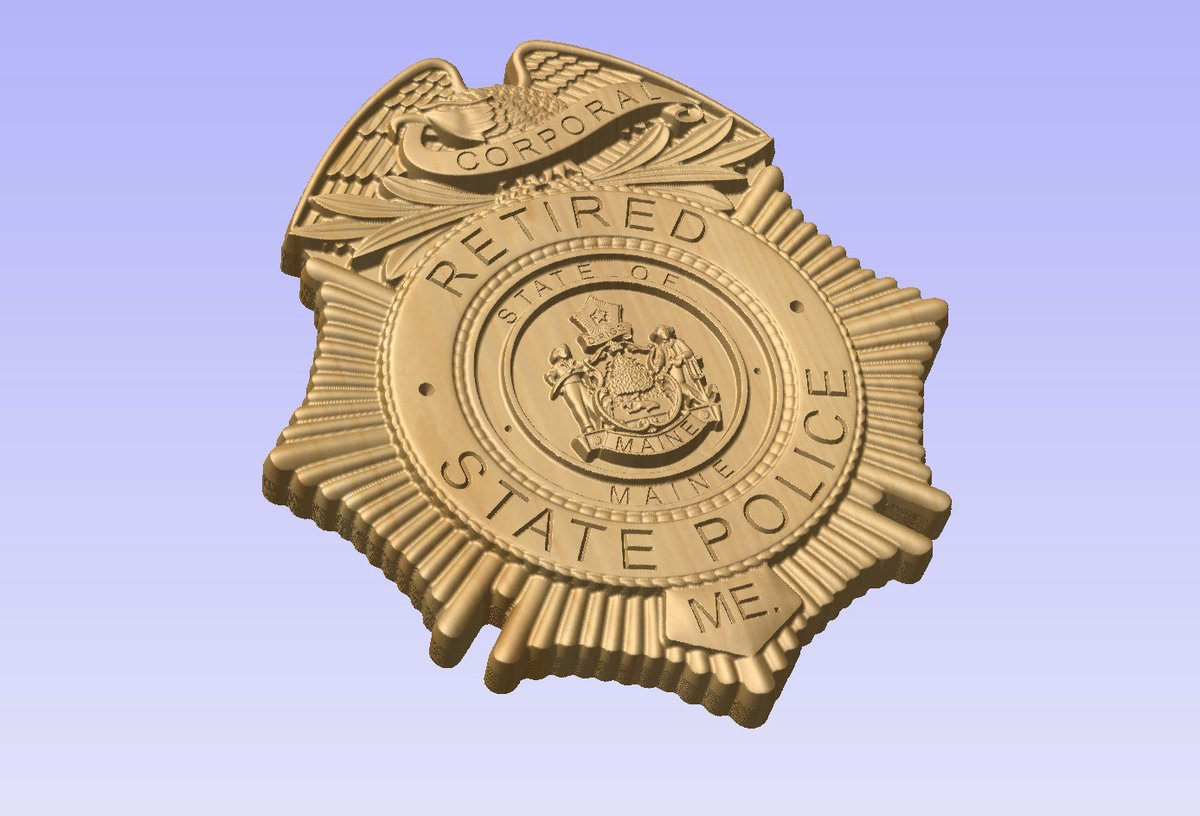 NEW design!! - Custom Maine State Police Corporal Badge  - Personalized Badge 3D V Carved Wood Sign  #Homedecor #Handmade #Trooper