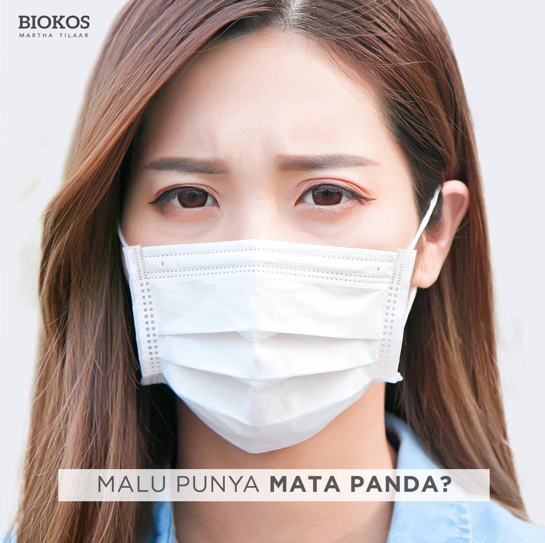 Trend memakai masker adalah kebiasaan baru untuk kita. Kondisi area mata yang kurang sehat dapat langsung terlihat karena mata menjadi area ekspresi kita. Gunakan #Biokos Vital Nutrition Eye Cream yang menjaga kesehatan mata untuk terhindar dari mata panda. https://t.co/vNw7LgkjWS