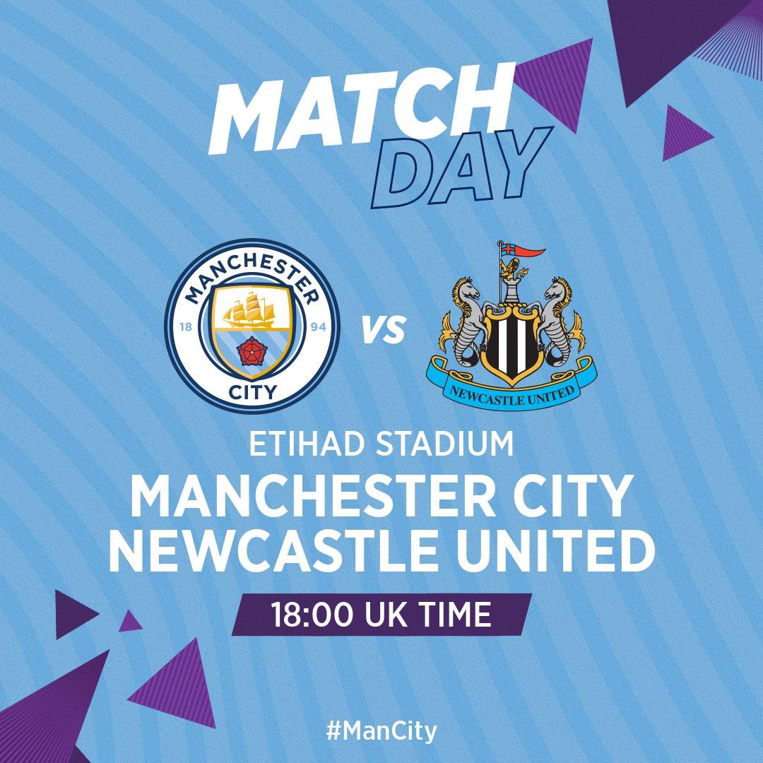 💙 COME ON CITY 💙  🆚 Newcastle (H) 🏆 @premierleague  🏟 Etihad Stadium ⏰ 18:00 BST  🔵 #ManCity https://t.co/IAHlkSXDsv