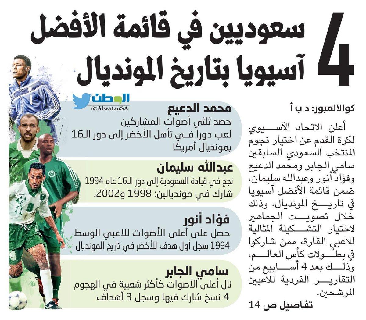 4 سعوديين في قائمة الأفضل بتاريخ #المونديال https://t.co/HhncaCevrv https://t.co/sczvs9LL4x