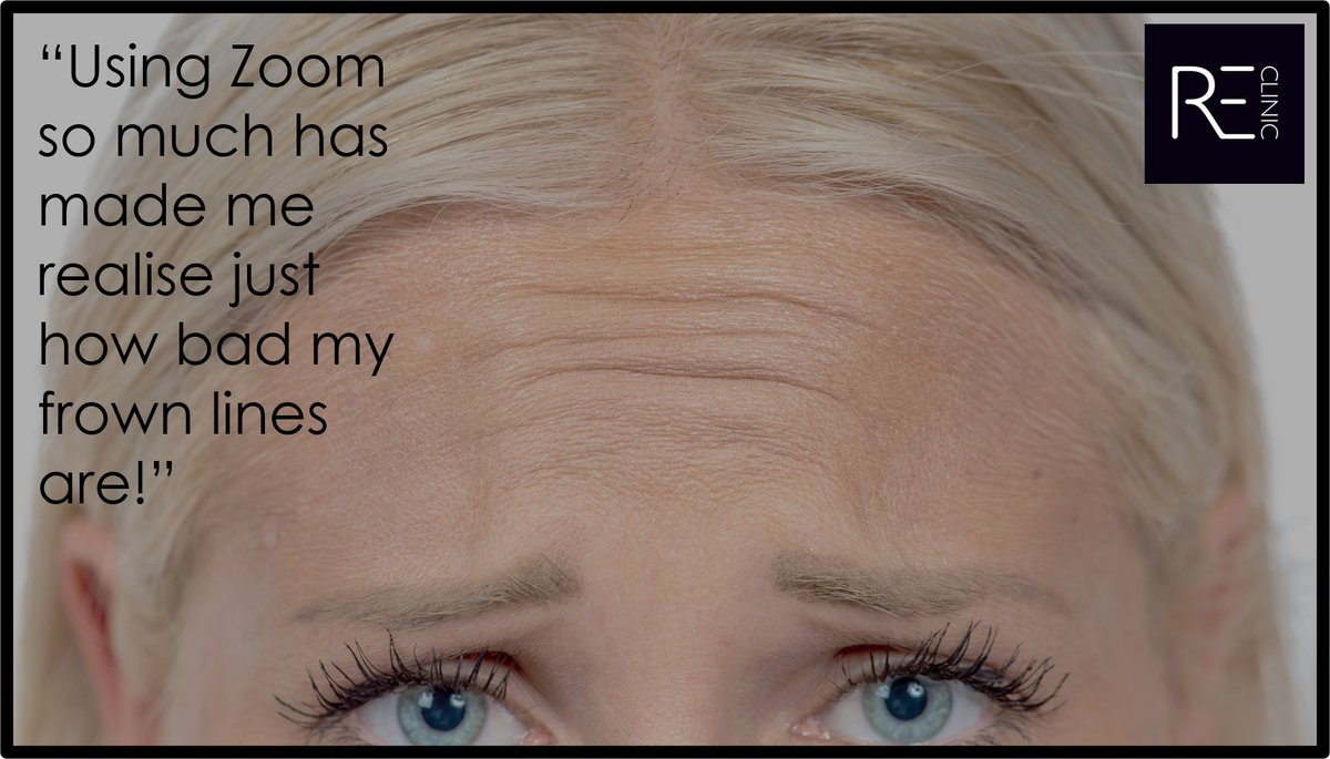 Has #Zoom made you more aware of annoying frown lines? You're not alone! Book a FREE online consultation with Dr Martina to discuss treatment options to suit your requirements. #frownlines #facialaesthestics #skincare #antiageing #beautytreatments #reclinic #bicester #oxfordshirepic.twitter.com/VcP3Klz71n