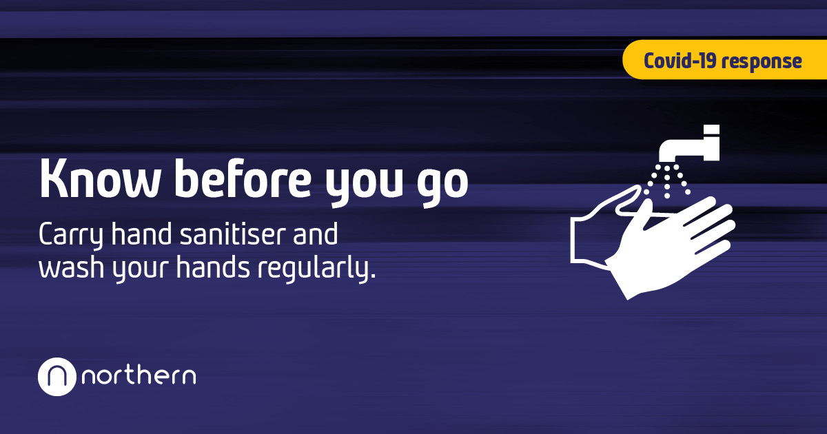 If you choose to travel by train, please travel safe and know before you go.  🧼 Wash your hands before & after your journey or carry hand sanitiser with you.  More travel advice 👉 https://t.co/2xwTU5gCVR https://t.co/2VchLQPenX