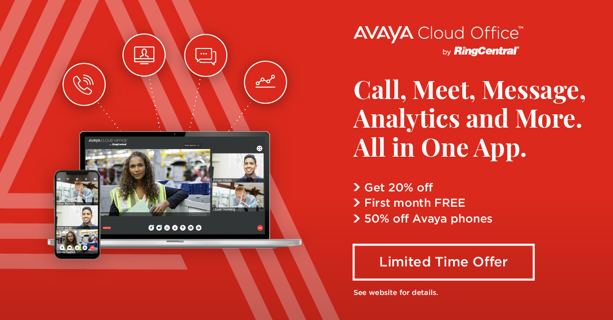 Interested in learning more about #AvayaCloudOffice? Get your first month free with our latest offer here: https://t.co/WgNoSxXLCy https://t.co/pnEvE179Re