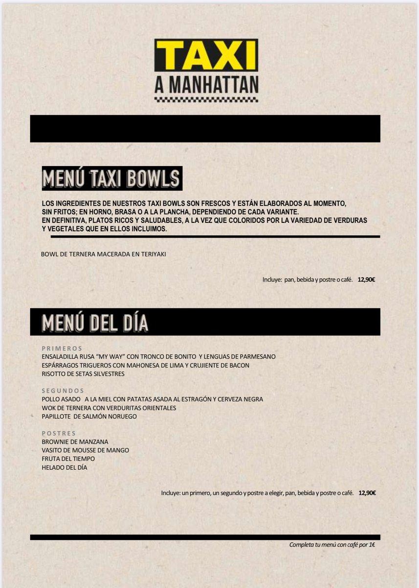 Nuestro menú del día para el 8 de julio #azca #cartataxiamanhattan #comida #comidasana #food #foodie #foodiegram #foodporn #hamburguesa #instafood #menudeldia #missliberty #newyork #nuevayork #restaurante #restaurantemadrid #restaurantesmadrid #sabor #taxiamanhattan #taxiamanhat