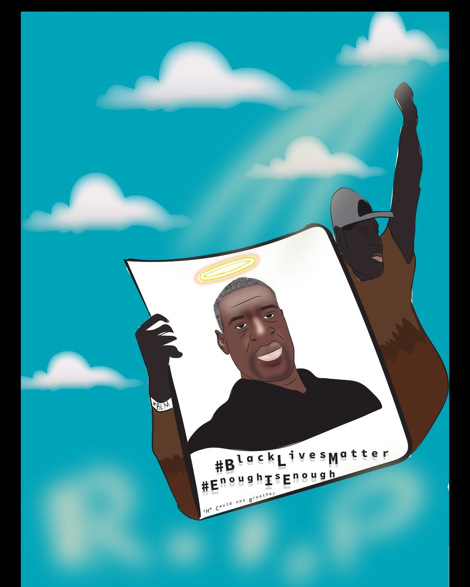 My latest art work of #GeorgeFloyd 🥀.... #BlackLivesMatters always🙏🏾❤ https://t.co/9LVuxYKKuV