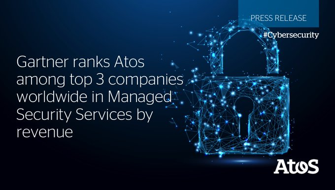 We are proud to announce that Atos has been ranked by@Gartneras the 3rd company...