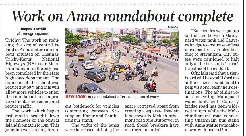 #trichy  #திருச்சி  Work on Anna roundabout complete https://t.co/OV0kKuTT20