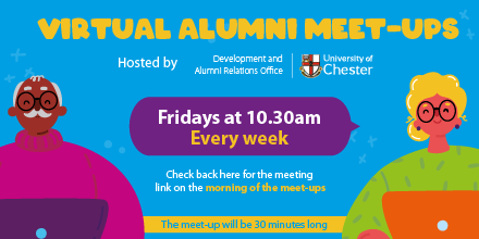 Don't forget, this week's Virtual Alumni Meet-Up is on Friday at 10.30am ☕ You should have received the link & password in our Alumni Community Update newsletter. Please email alumni@chester.ac.uk to be added to the mailing list 🔒 https://t.co/zOssrVdLg8