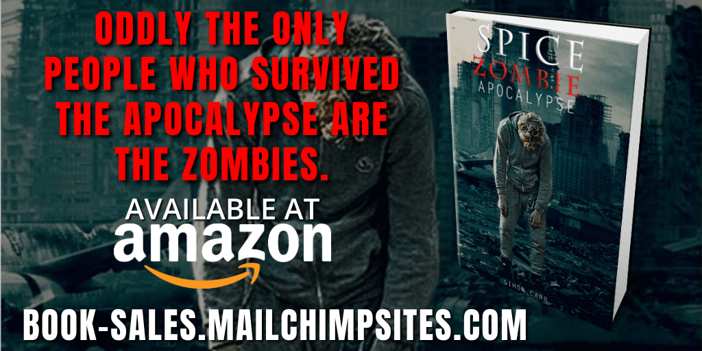 Oddly the only people who survived the apocalypse are the zombies.  spice, zombie, apocalypse by Simon Carr is available at https://t.co/3chirgTLYO  #zombie #zombieland #zombies #apocalypse #theend #endisnear https://t.co/cvnFzgBOO3