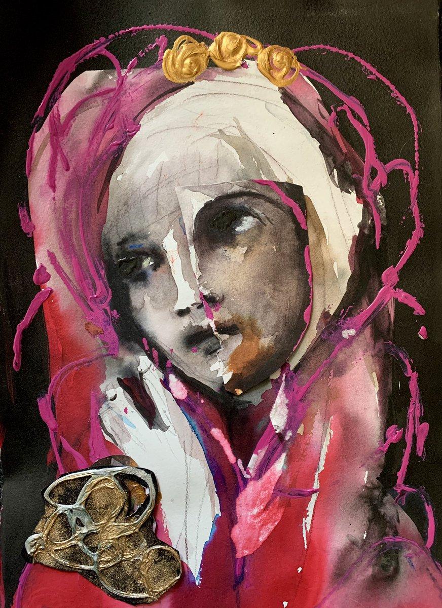 Vanity, my bff. #painting #contemporaryartist #vanity #mixedmediaartist pic.twitter.com/F8jHDk2a6G