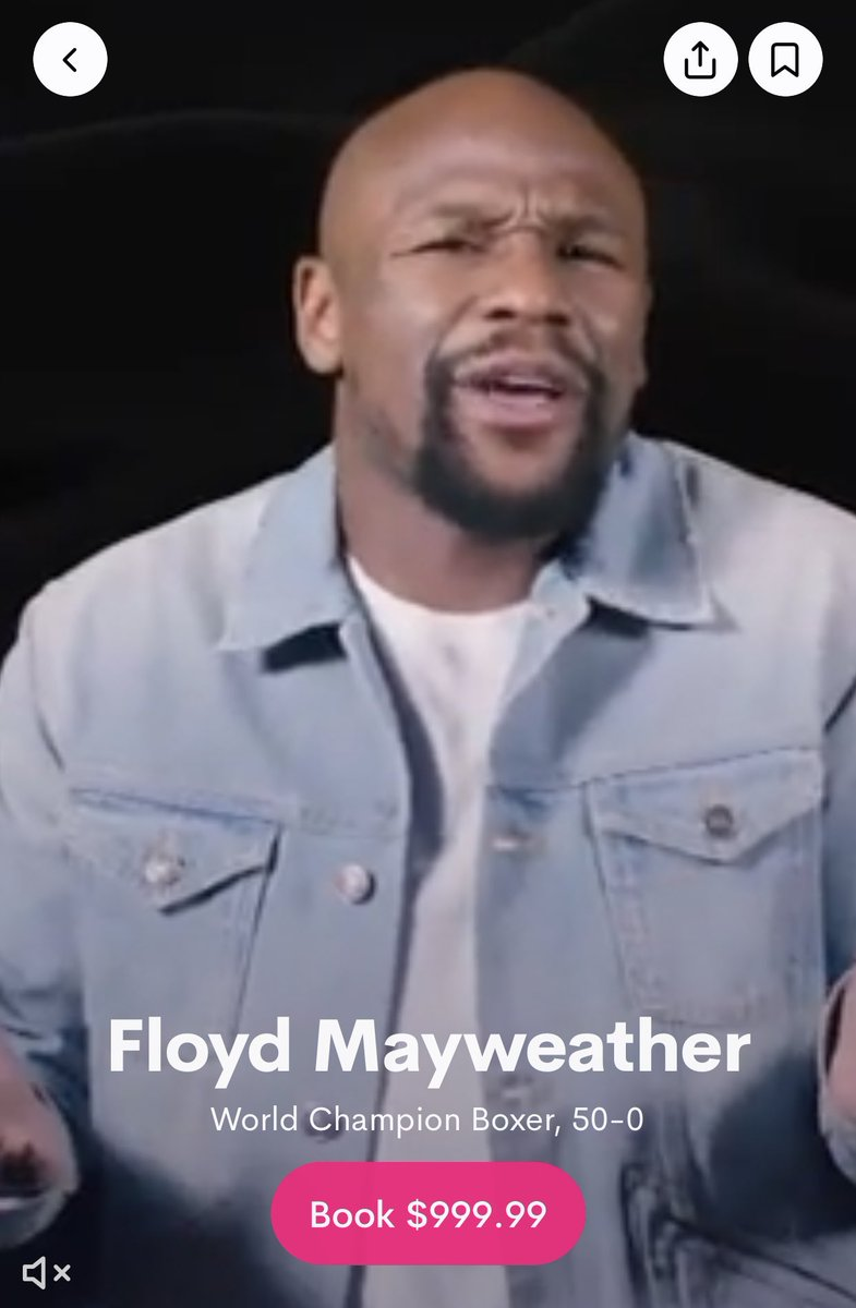 🗣 You can now buy a personalised message from Floyd Mayweather for just $999 through Cameo  50 Cent is currently choosing which Harry Potter book he's going to get him to read 👀😂 https://t.co/hNgkR4PimK