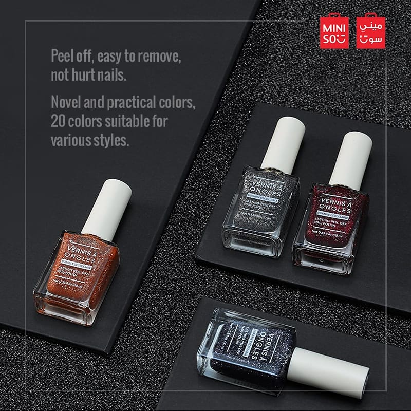 Miniso Uae On Twitter Peel Off Polish Is Also Great For Anyone Who Grows Tired Of Their Nail Color Within A Couple Of Days Miniso Is Now Available Online On Amazon