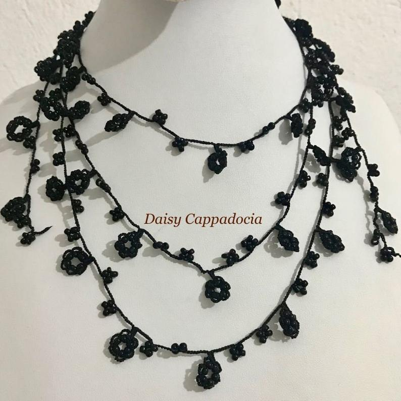 Elegant Necklace made by Turkish Needle Lace listed on #Etsy!  Good for parties!! 💐💐💐  Our works are all #handmade by local ladies and it is our purpose to introduce them to the world and support their work.  #Oya #Turkey