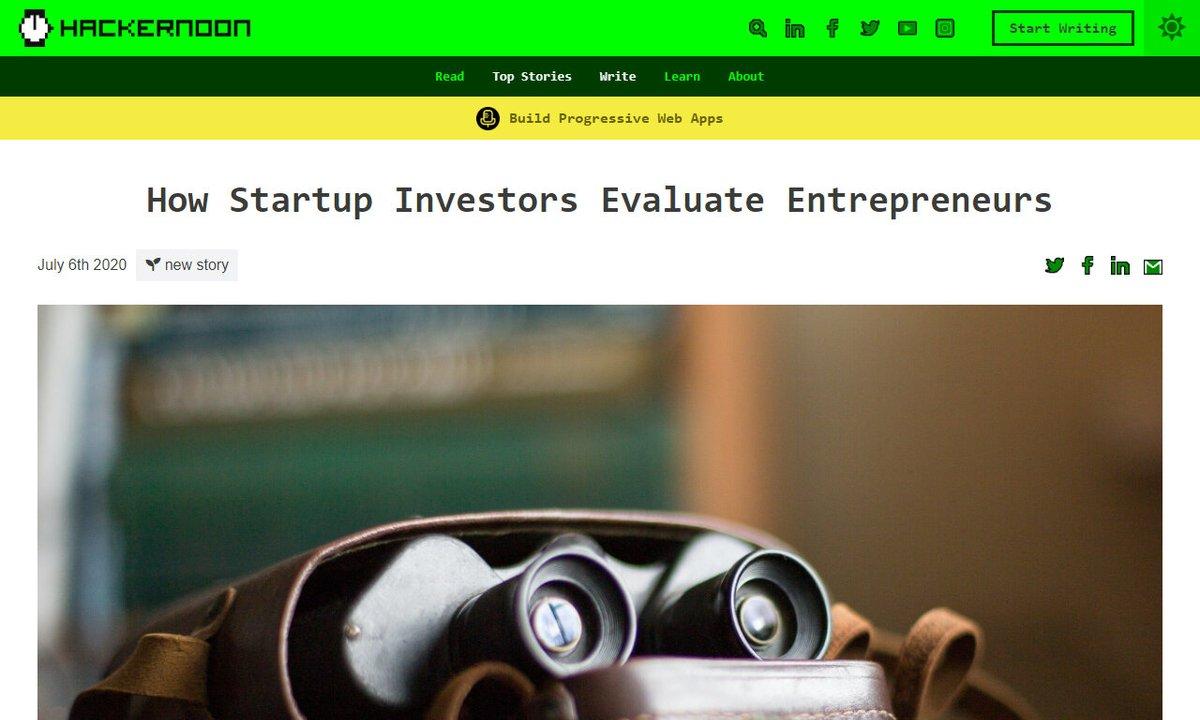 How Startup Investors Evaluate Entrepreneurs #startup #investors #team #company #candidate #remotework via https://t.co/ibLoxXVjoN ☛ https://t.co/9mhBaIhSDZ https://t.co/sa24V3PGxO