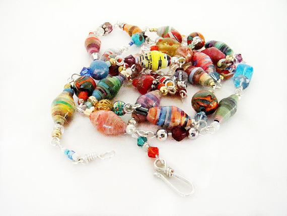 Paper beaded Necklaces, Paper http://tinyurl.com/yykqdfxa via @EtsySocial #handmadegifts #etsyfinds #chainednecklaces #beadednecklacespic.twitter.com/fLjBwecdve
