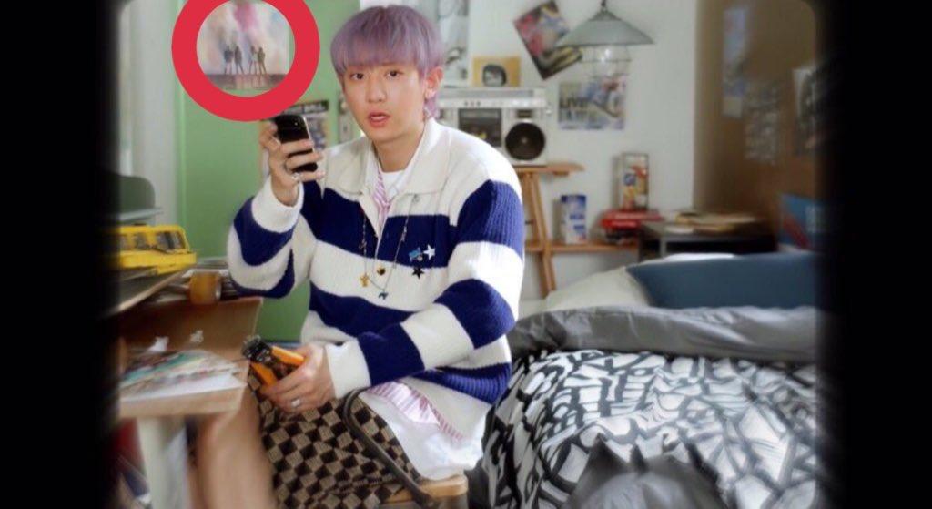 Blackpink poster appear on exo sc telephone mv???? <br>http://pic.twitter.com/HahTZXmSNt