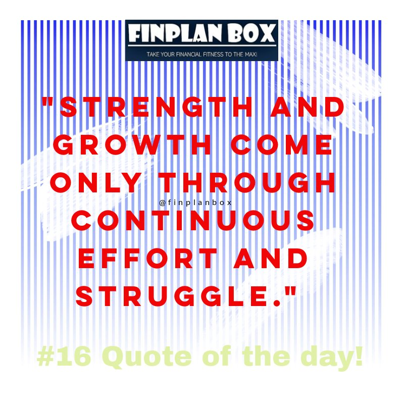 Wednesday wisdom! http://www.finplanbox.com   https://linktr.ee/finplanbox  - Join the community.  #finplanbox #financialplanning #financialfreedom  #investing  #budgeting #savings #financialservices #morningmotivation #motivationalquotes #inspirationalquotes #quoteoftheday #quotes pic.twitter.com/iOqceajFSb