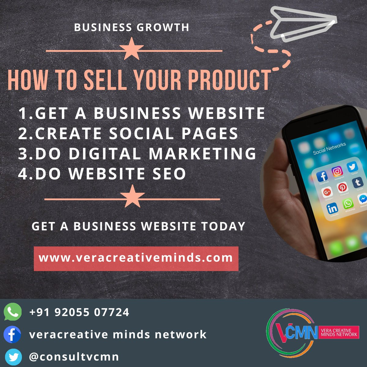 Get in touch for all your Website and Digital Marketing needs  Whatsapp on: +91 92055 07724  http://www.veracreativeminds.com  #GhanaStartups #onlinebusiness #socialmedia #salesstrategies #websitedevelopment #websitedesign #digitalmarketing #seo #socialmediapic.twitter.com/qUDPMgrHO1