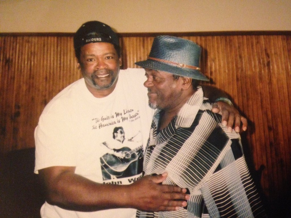 #BluesMusic Delta bluesman & harmonica ace Arthur Williams born July 8, 1937 at Tunica, MS. Worked with Sam Carr & Frank Frost; based in St Louis for years. Photo of Williams I took in 2005 with guitarist Dave Riley (left) at Helena. https://youtu.be/g6_Rgu_voOMpic.twitter.com/997FYlrNUb