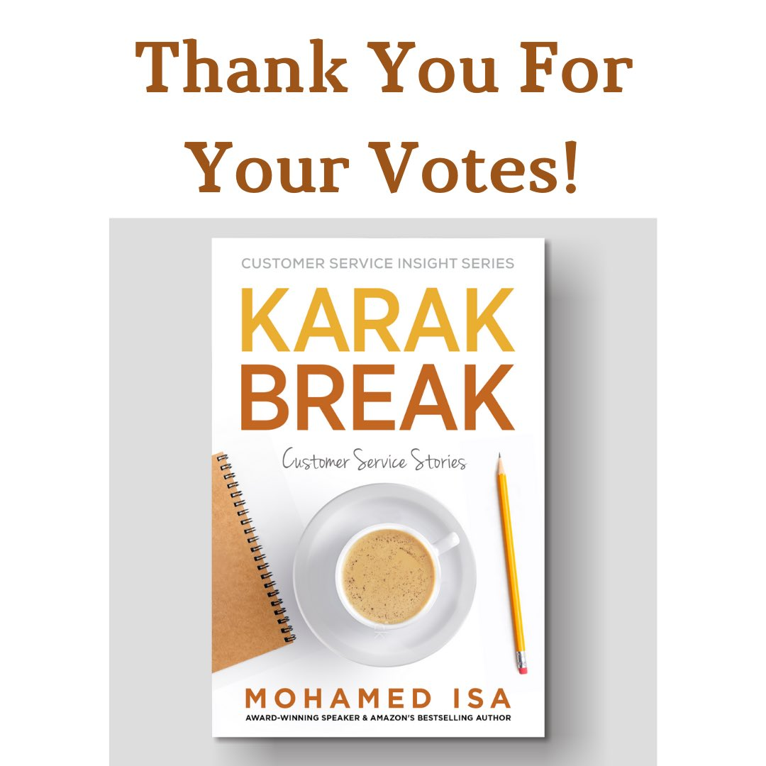 Thank you very much for your votes.  The book should be out in Q1 2021. . . #customerexperience #customerservice #customer #business #marketing #customerappreciation #cx #sales #customers #customersatisfaction #customerreview #userexperience #happycustomers #technology<br>http://pic.twitter.com/0wmplWRsQa