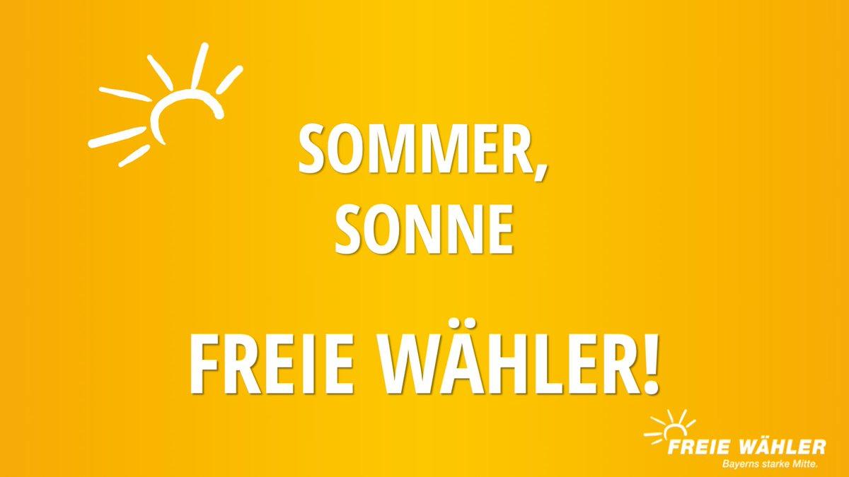 Noch zwei Wochen bis zu den #Sommerferien.  Wir können es kaum noch abwarten...  #Sommer #Sonne #SommerSonne #FREIEWÄHLER ☀️ https://t.co/z8cb0ckYZR