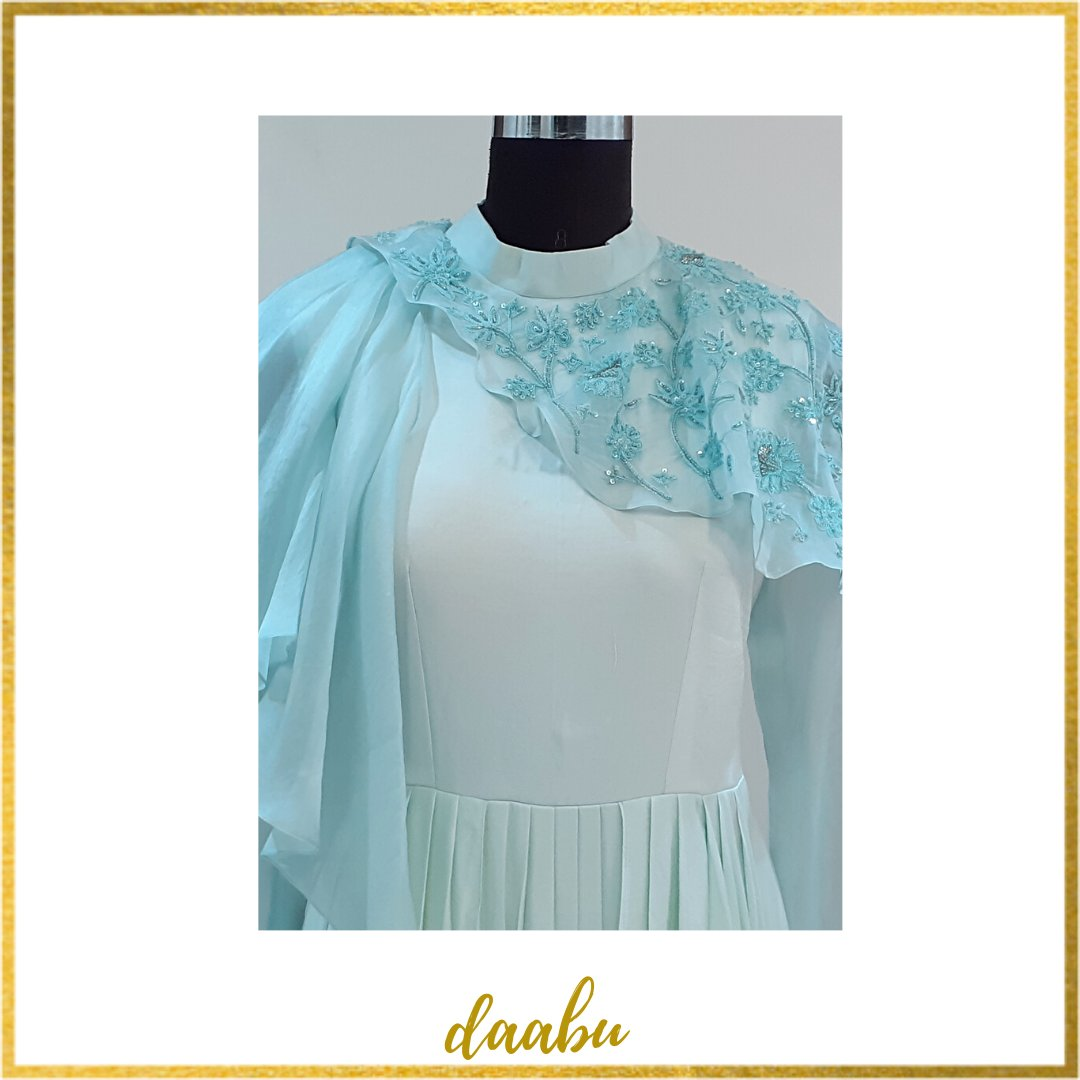 Add flare to your style with this Turquoise Blue gown with intricate floral embroidery and touches of thread @Daabuofficial  . . #ClothingBrand #style #fashion #ethnicwear #Daabuofficial #Trendy #designers #womenfashion #clothing #embroidery  #comfortable #blue #instafashionpic.twitter.com/q1hZW6kGFT