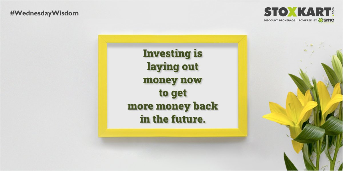 To be a smart investor one must believe in a better tomorrow & should invest their time, effort, money & actions in activities & investments that will yield profitable returns in future. #StockTrading #Stoxkart #OnlineTrading #WednesdayWisdom #WednesdayVibes #WednesdayThoughts https://t.co/eRv02ucfEO