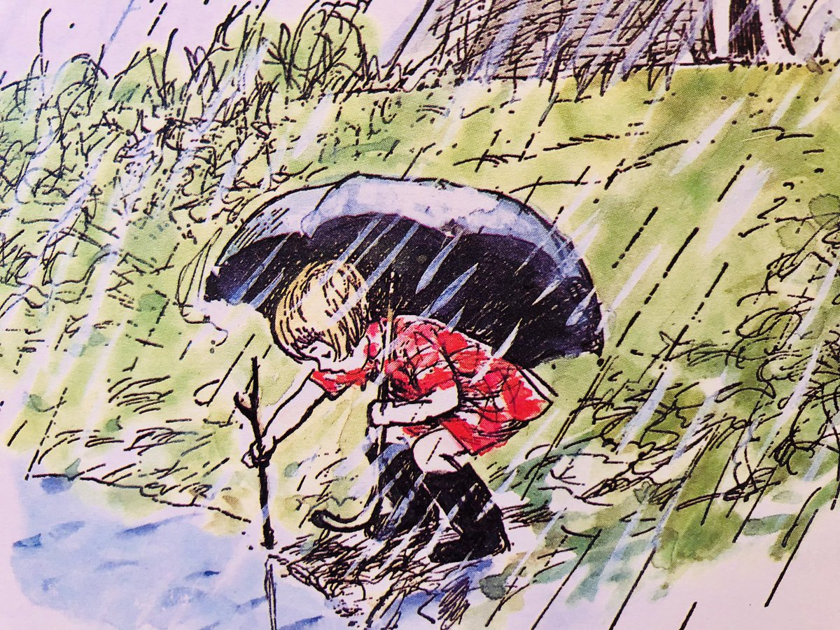 Christopher Robin lived at the very top of the Forest. It rained, and it rained, and it rained. It was rather jolly to look down into the valleys and see the water all round him, but it rained so hard that he stayed indoors most of the time, and thought about things. ~A.A.Milne